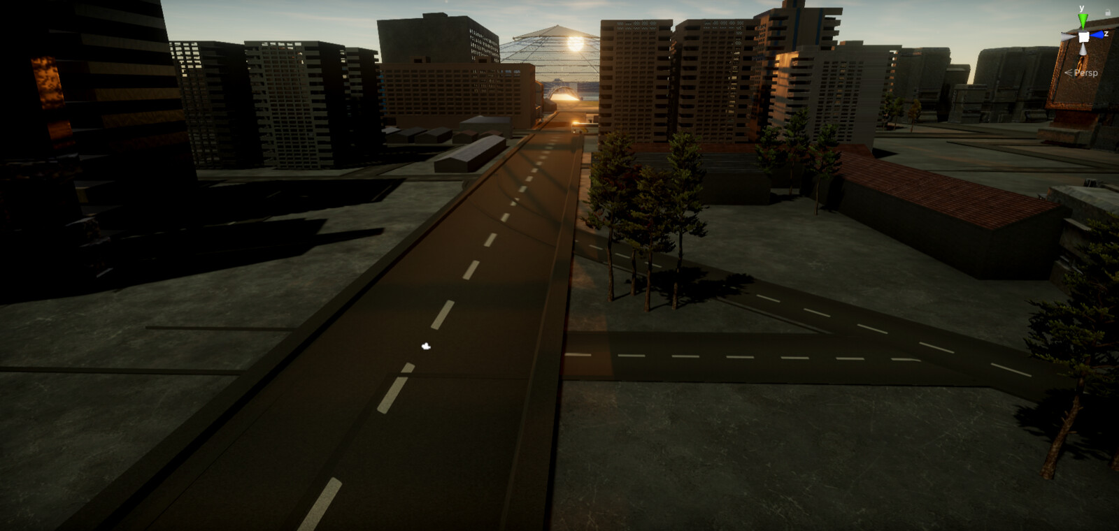 The road leading up to the mine - Unity screenshot
