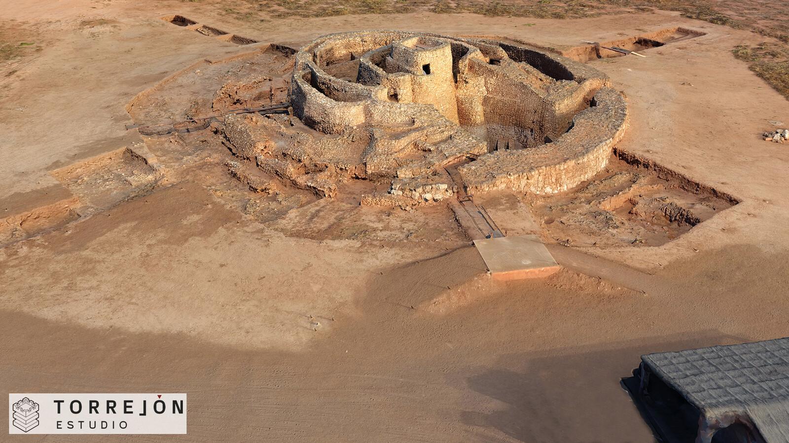 Estado actual de la Motilla del Azuer - modelo fotogramétrico realizado por Global Digital Heritage.