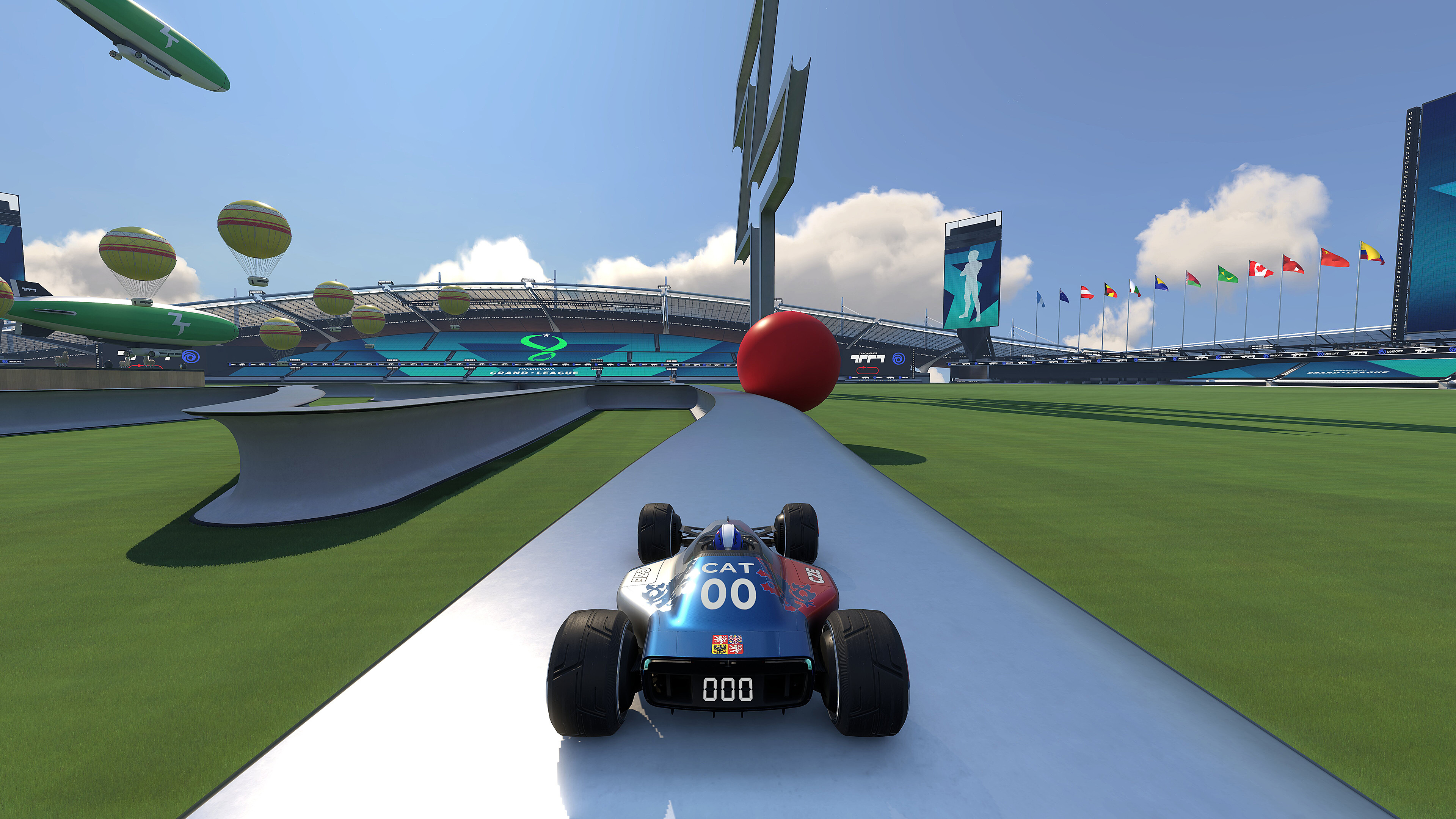 This is what driving on the logo is looking in game.