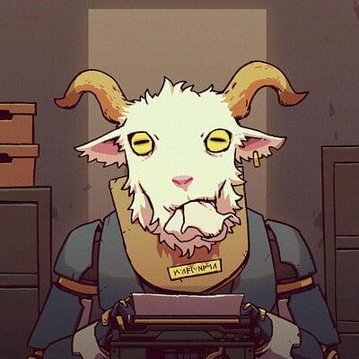 A shipwright goat