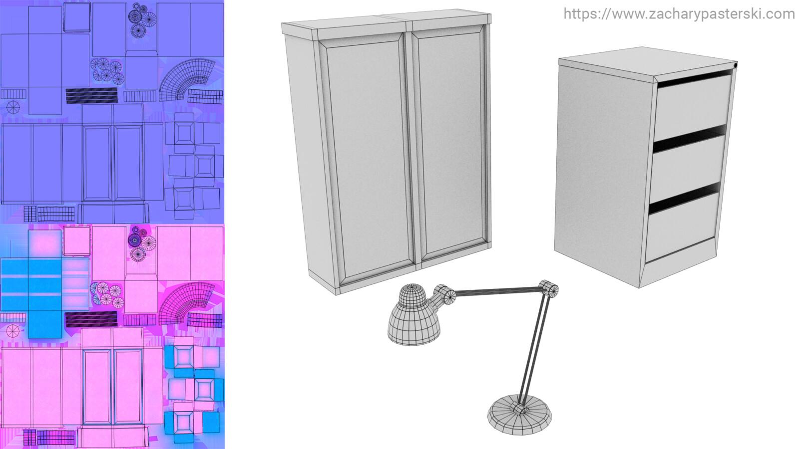 texture breakdown: metal objects