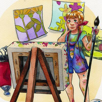 Becca hillburn little artist