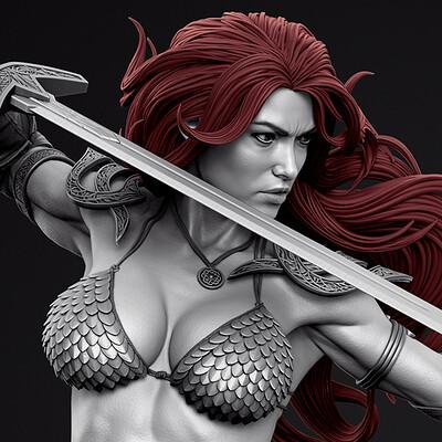 Red Sonja - Prime 1 Statue - Renders