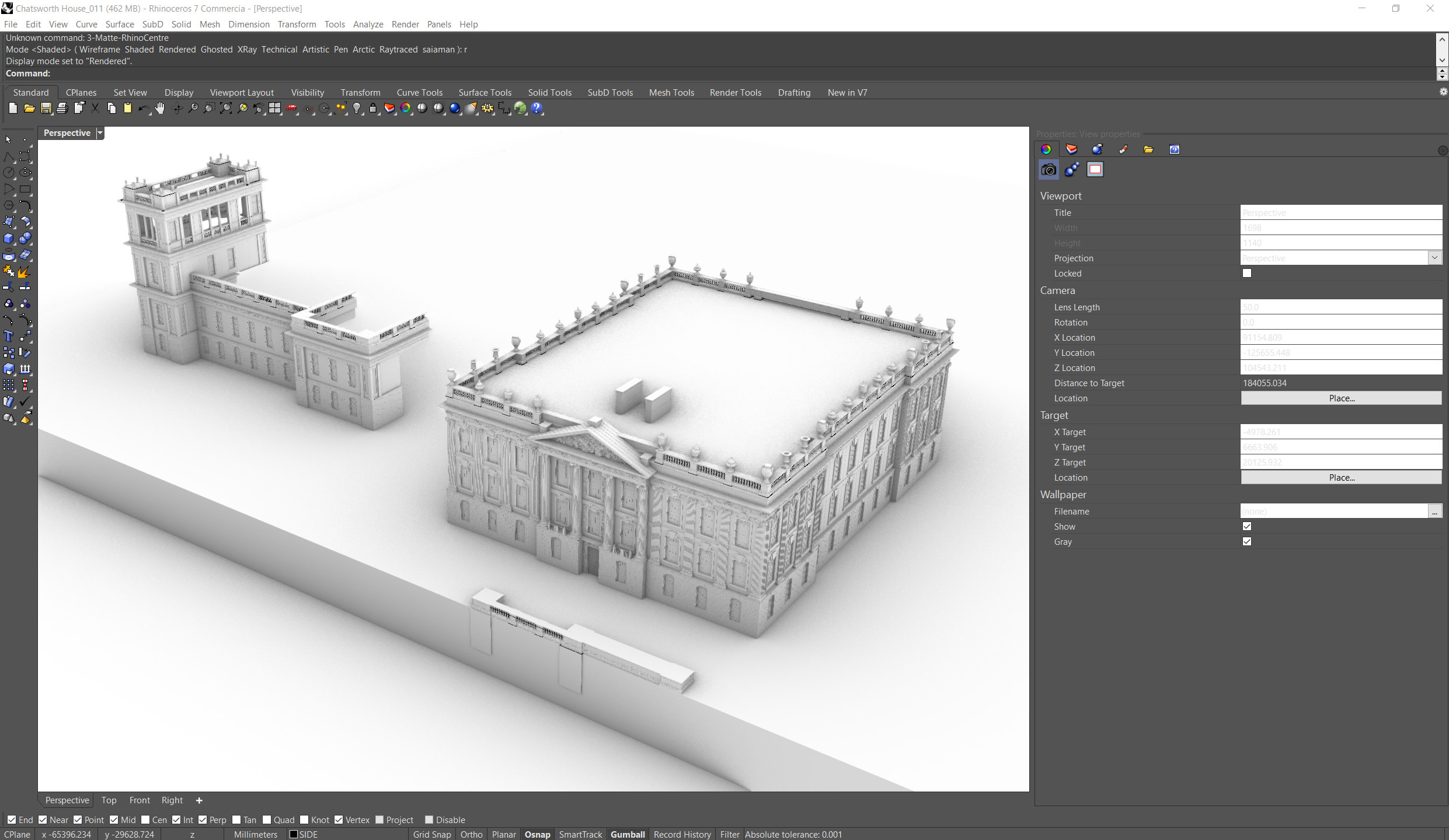 WIP (Rhino) - Overiew of Architectural Assets