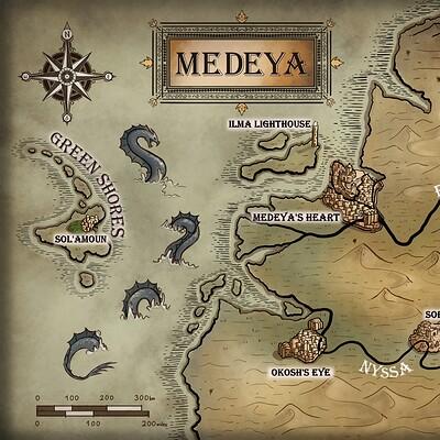 Magical kaleidoscope map medeya