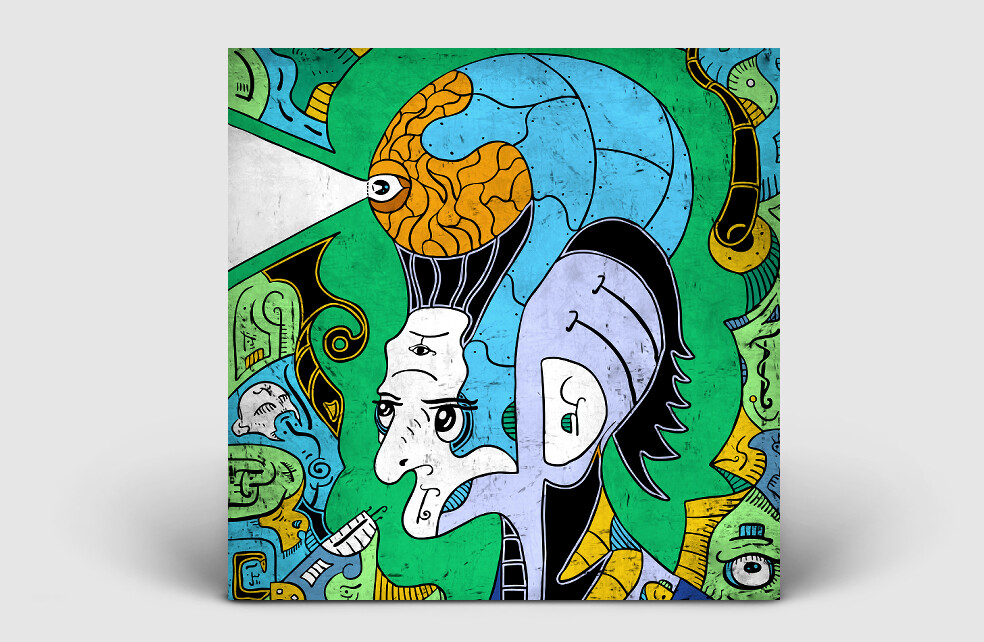 Punk rock cover art for album