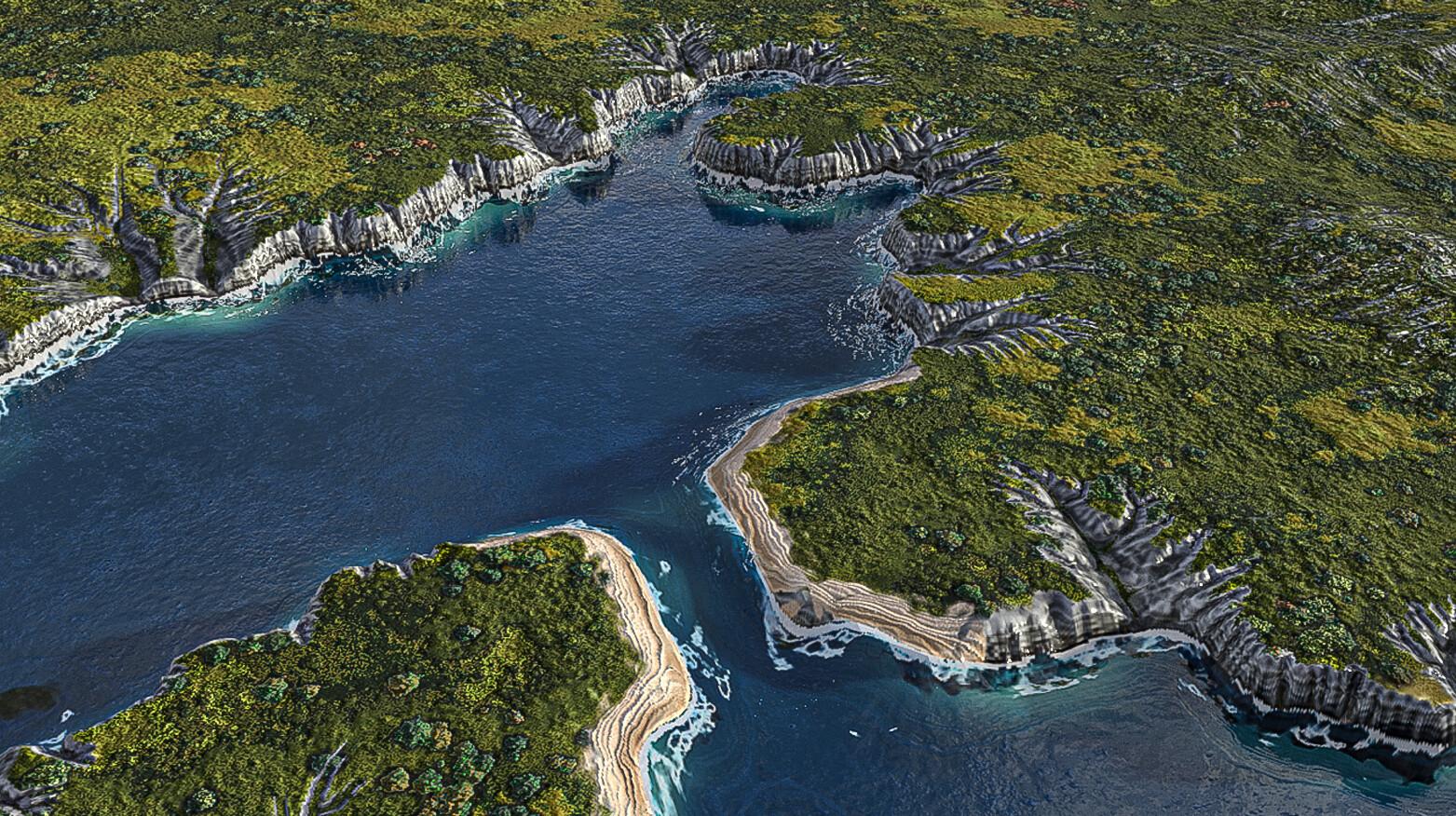Crimea, fertile grassland & beach lines