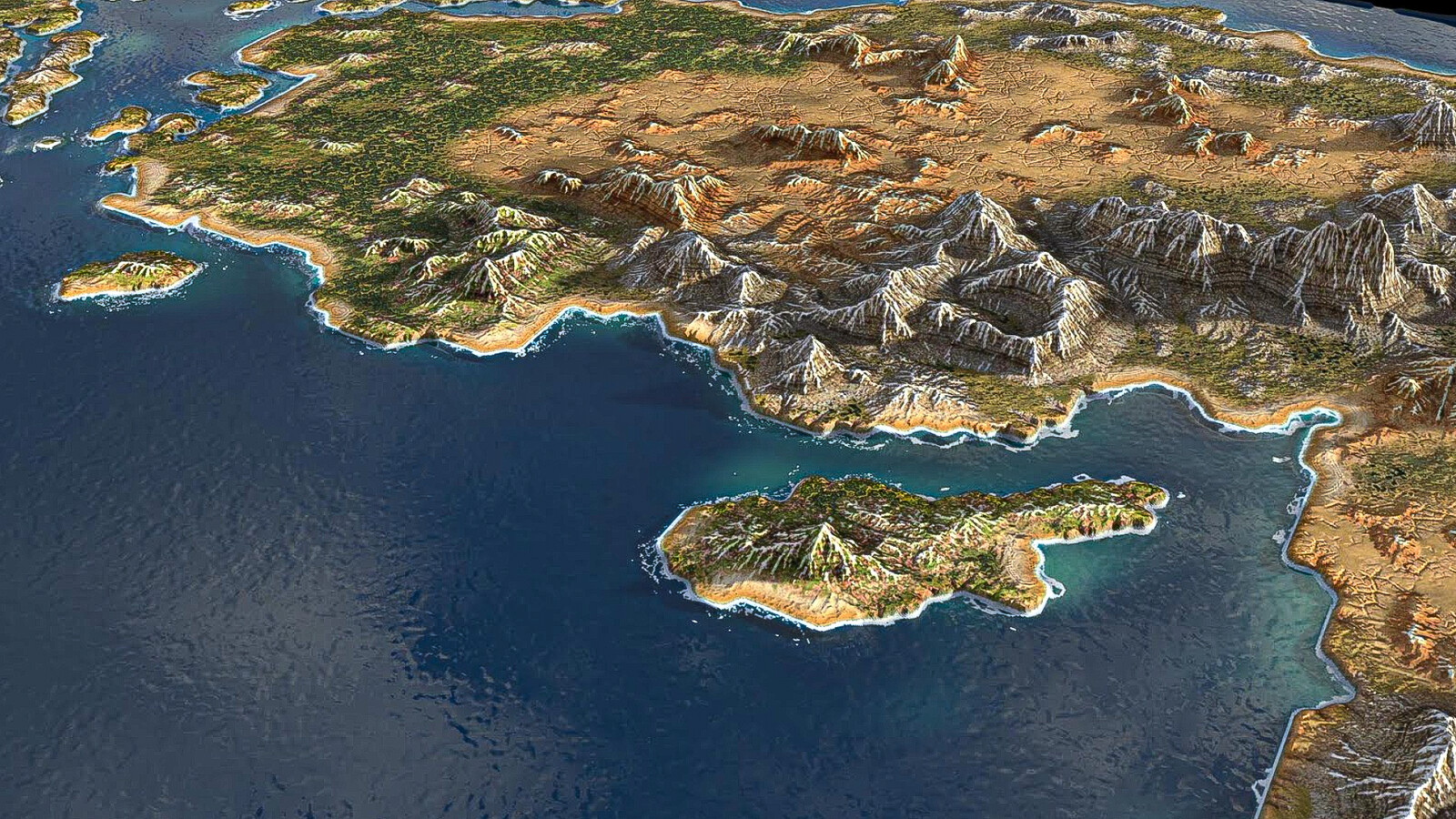 semi arid climate in sea sides and rocky desert  on center of the land, Turkey & Cyprus