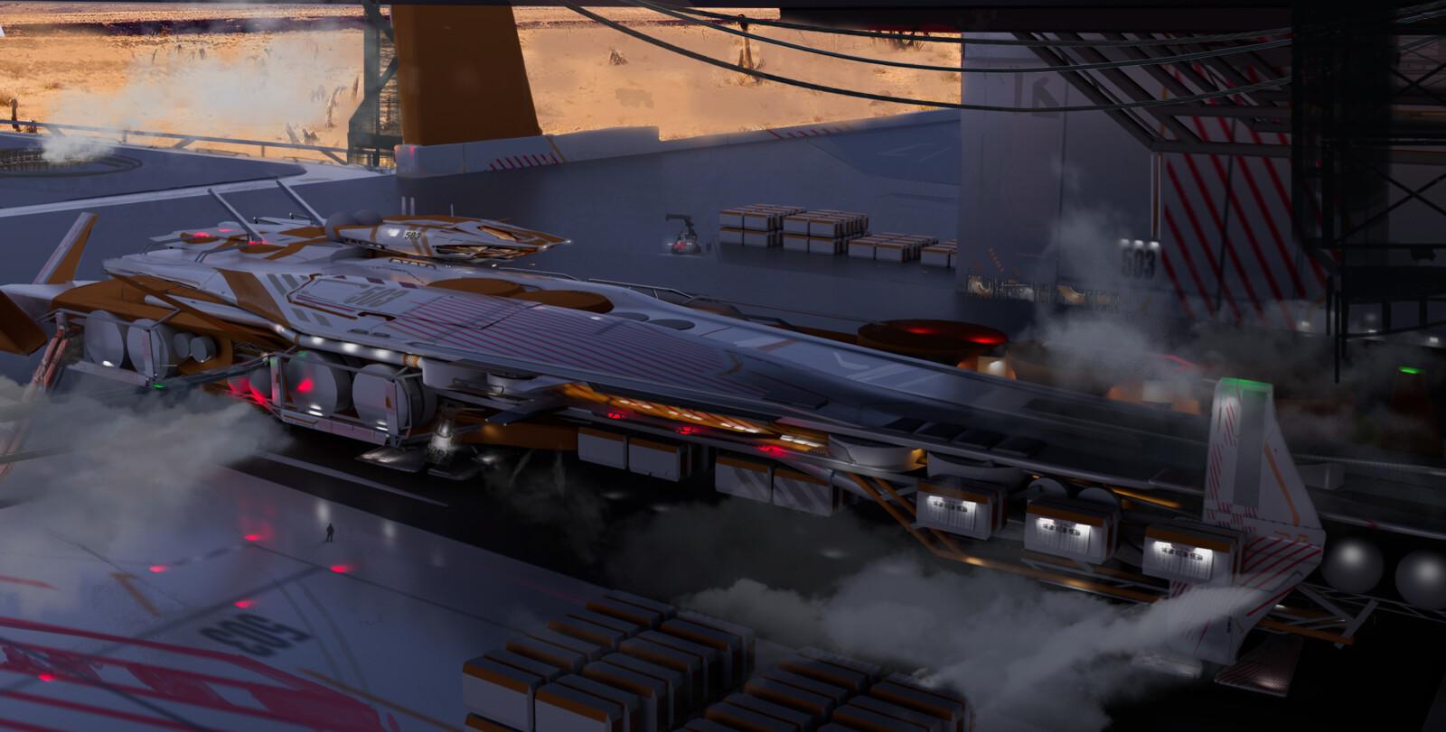 Refinery/ore/gas compression Ship