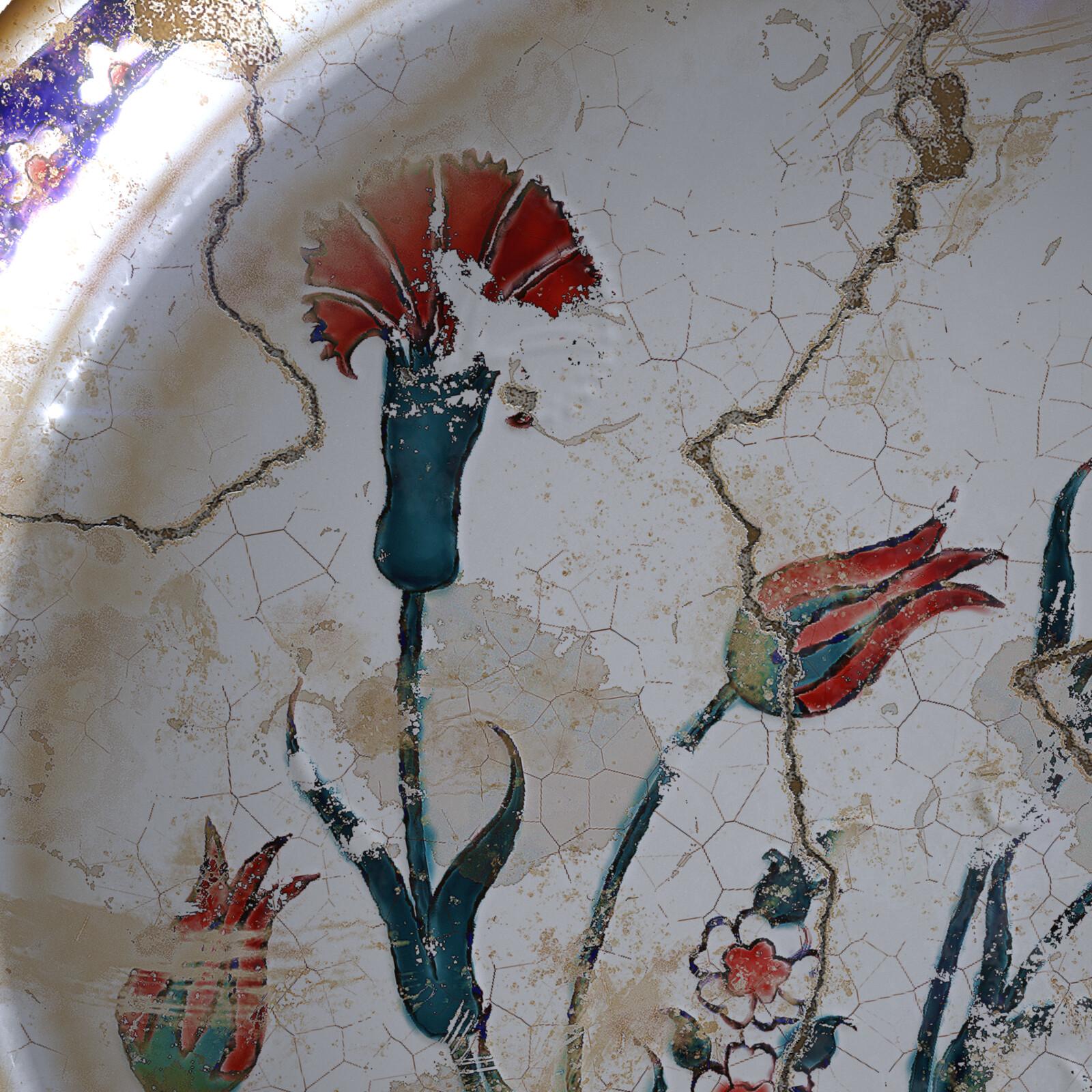 rodos region ceramic dish, iRay Render