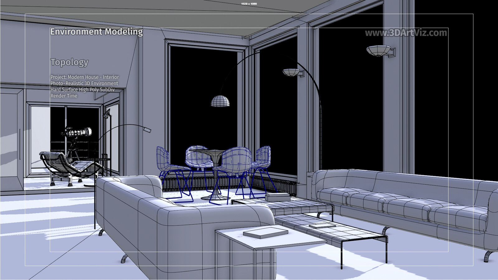 Shaded wireframes