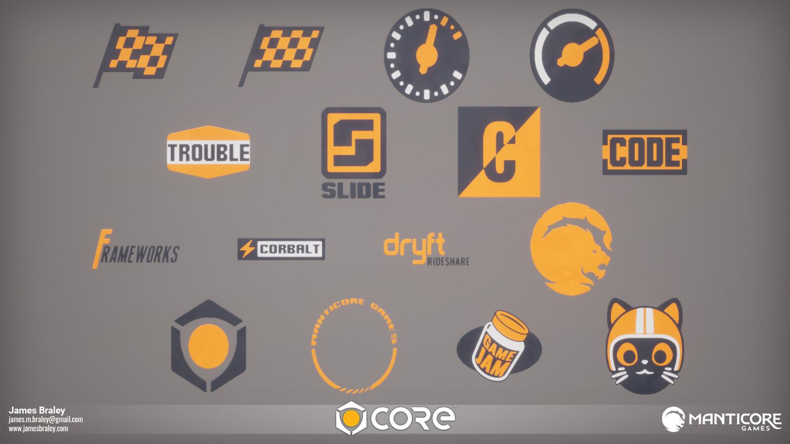 Racing Symbol Decals (Concepts by Jordan Louie)