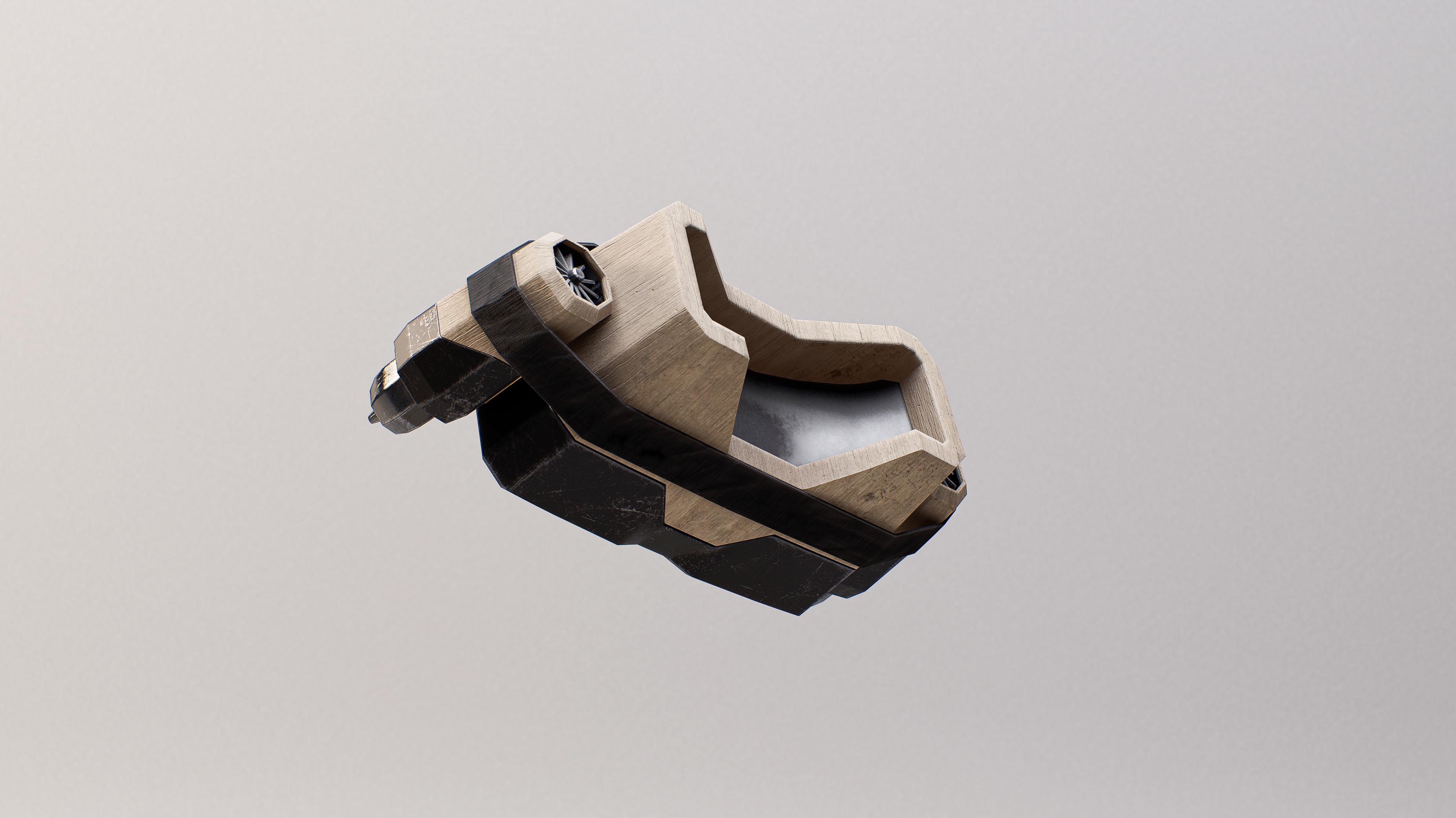 VR Jet Engine Headset - Unreal Engine Render