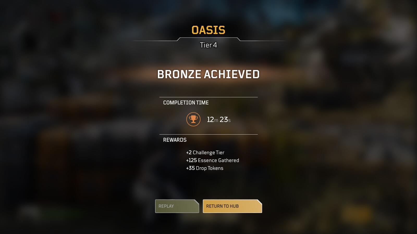 Design for the challenge screen - rewards