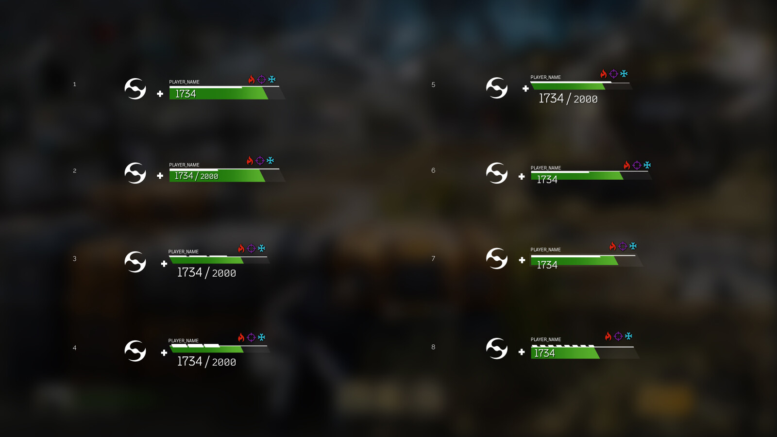 Explorations for health and shield bars 3