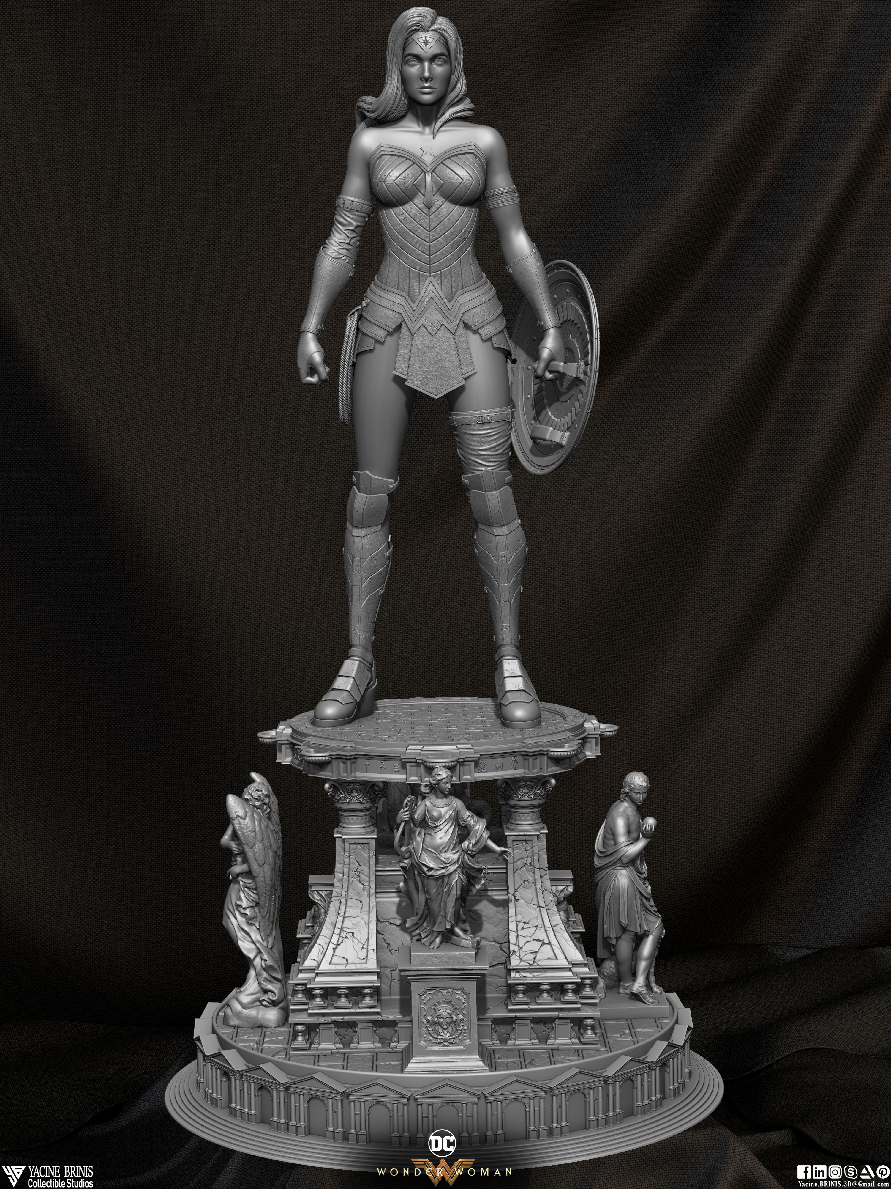 Wonder Woman ZBrush Version, Personal Project (Sculpted By Yacine BRINIS) Set 01