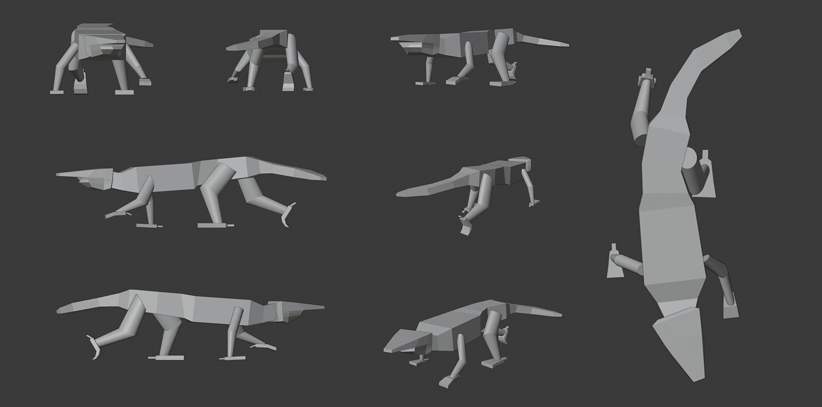 Very simple 3d model done for pose and camera angle exploration