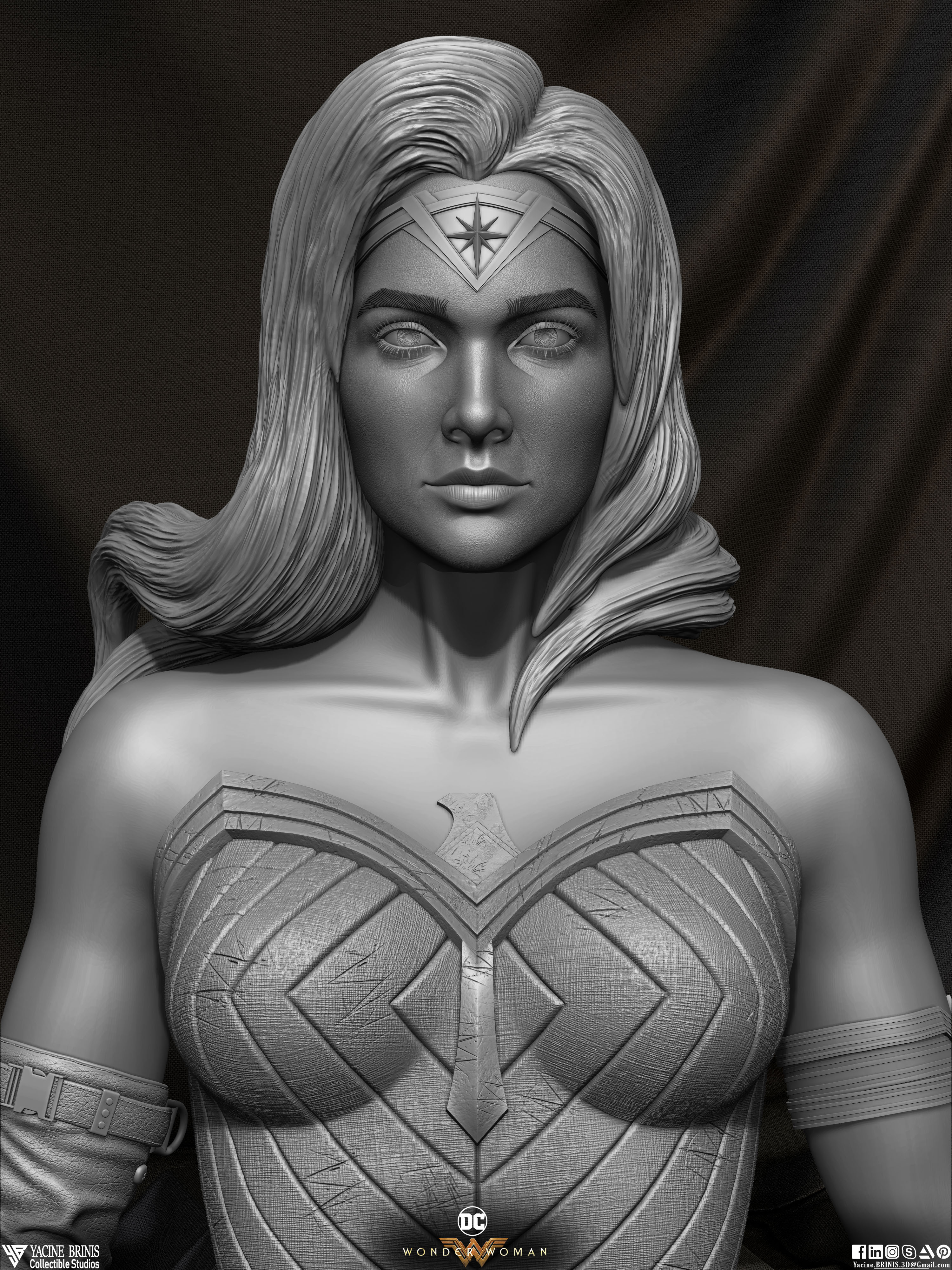 Wonder Woman ZBrush Version, Personal Project (Sculpted By Yacine BRINIS) Set 05