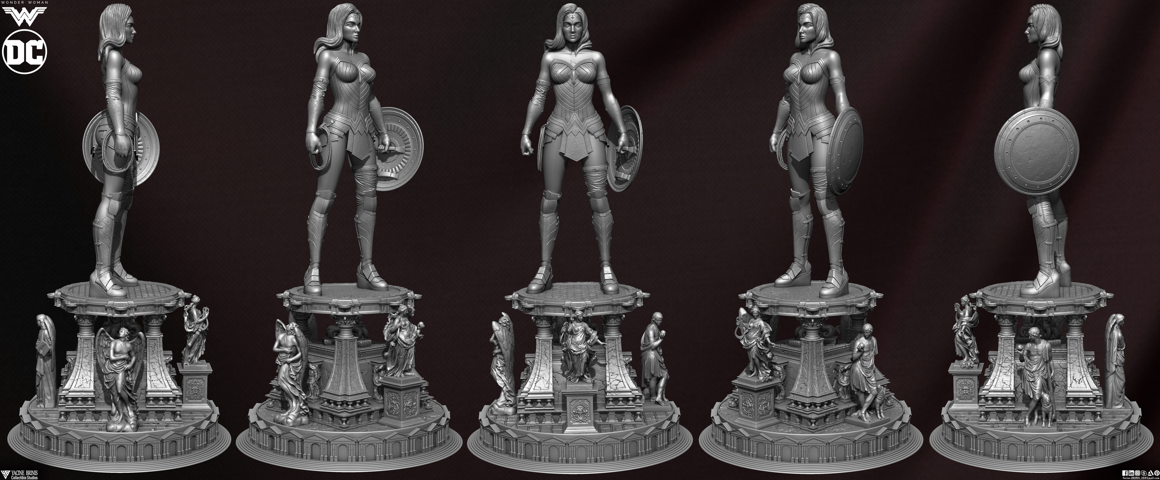 Wonder Woman ZBrush Version, Personal Project (Sculpted By Yacine BRINIS) Set 06