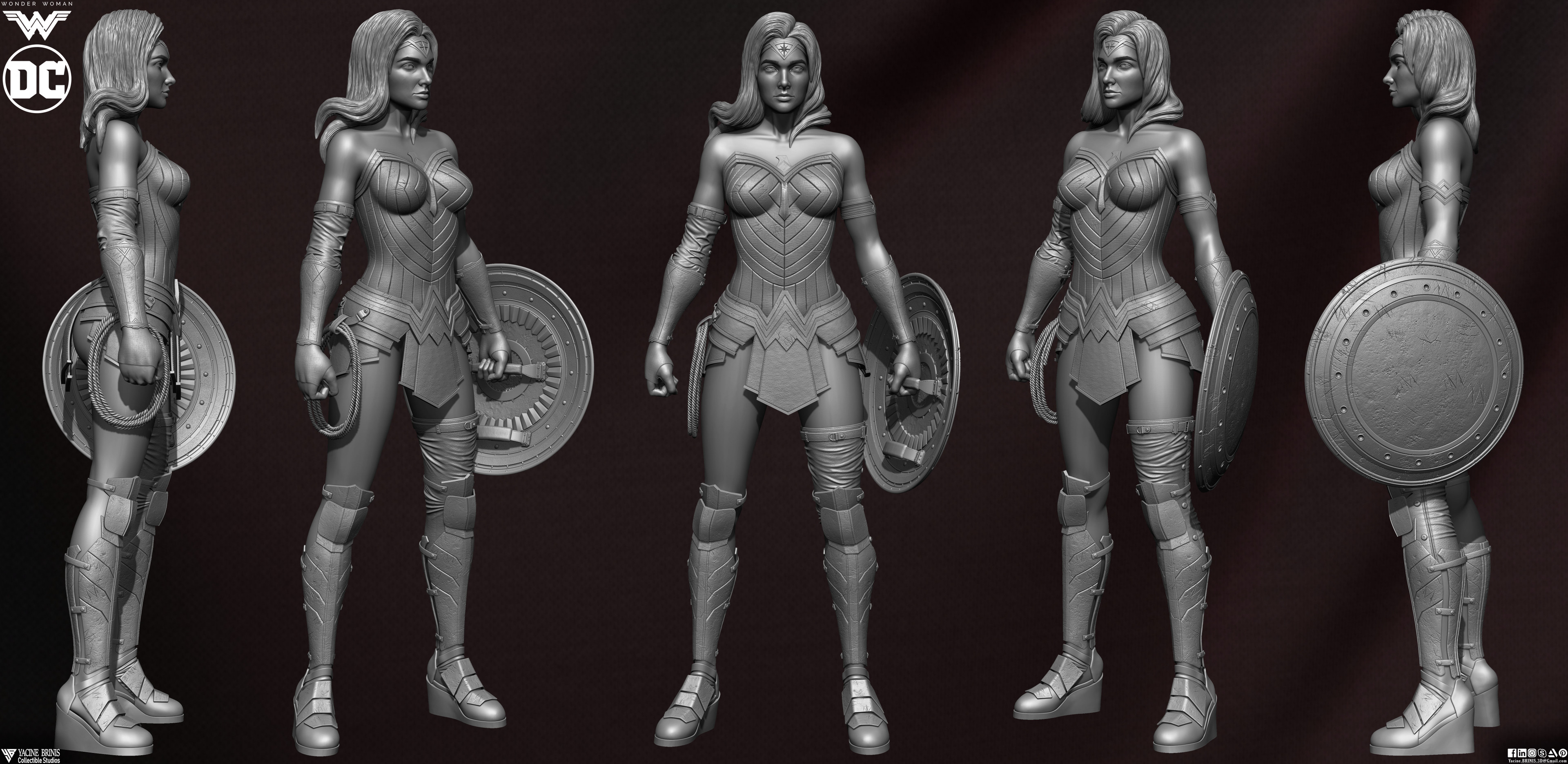 Wonder Woman ZBrush Version, Personal Project (Sculpted By Yacine BRINIS) Set 07