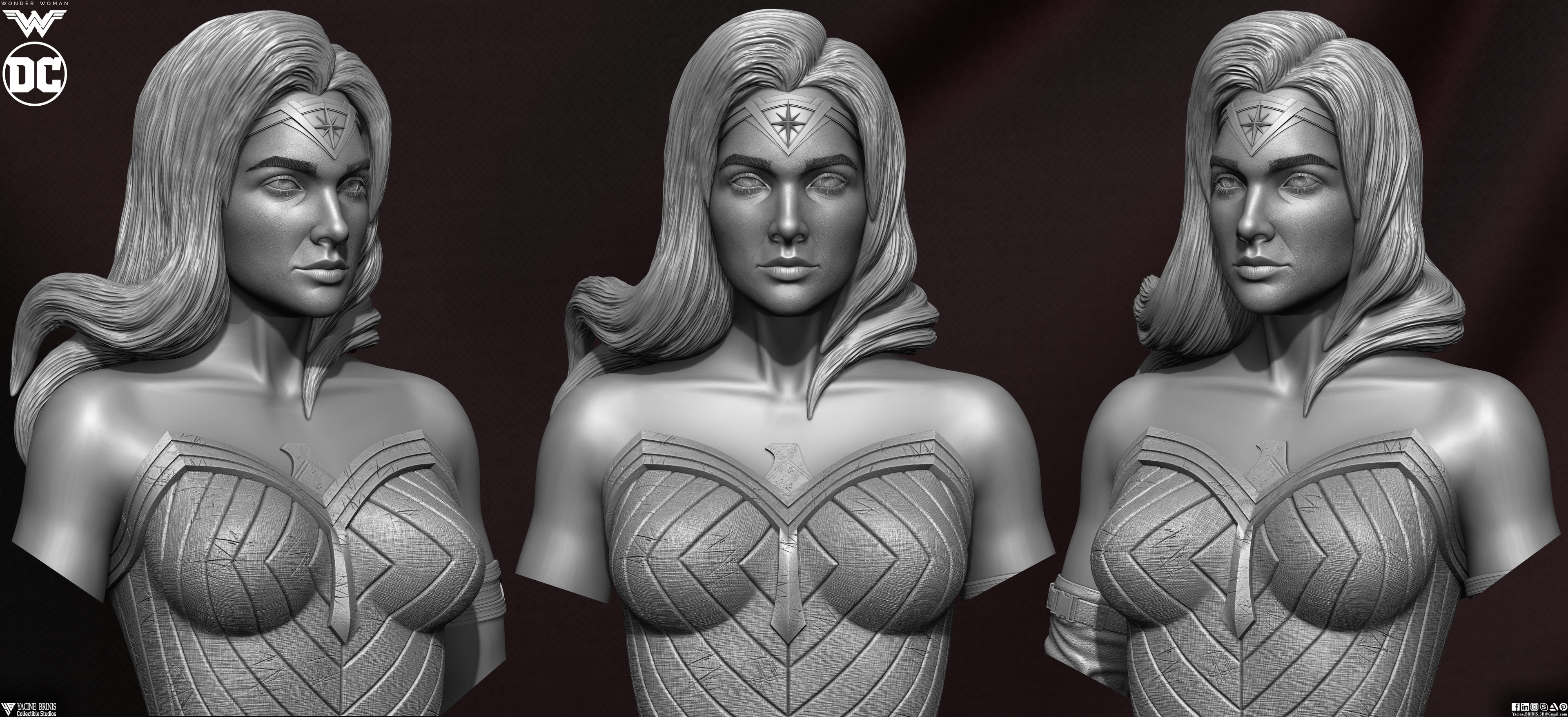 Wonder Woman ZBrush Version, Personal Project (Sculpted By Yacine BRINIS) Set 10
