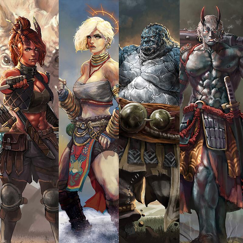Pathfinder Original Character Portraits