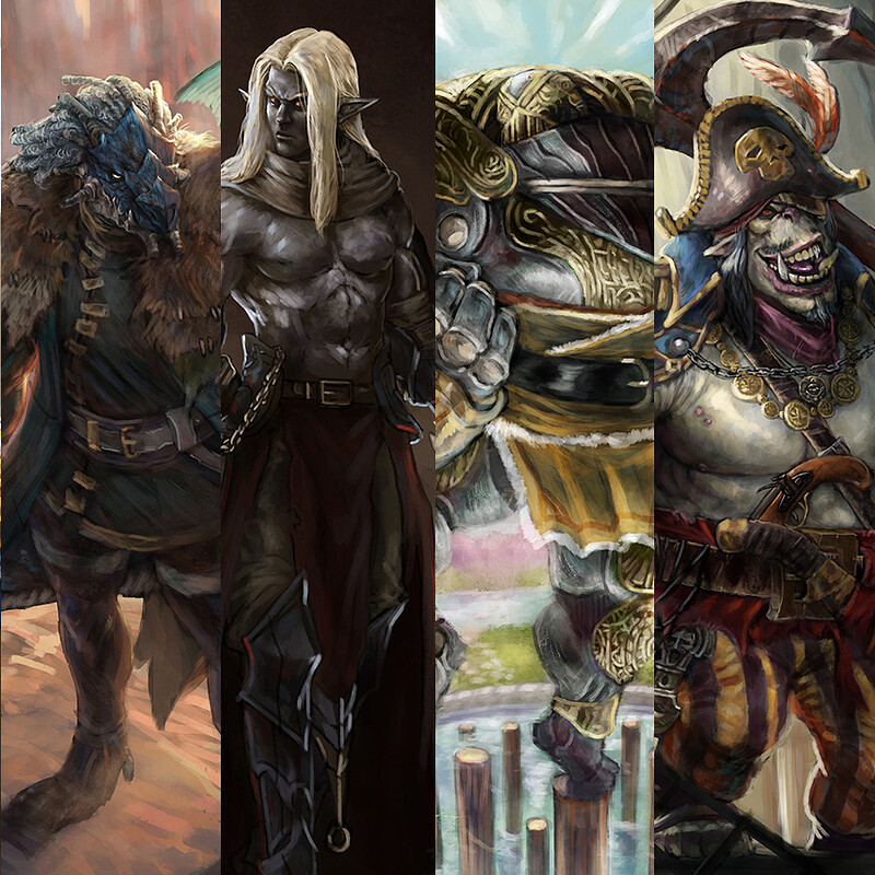 Dungeons and Dragons Original Character Portraits
