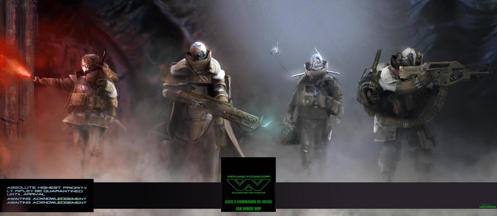 Alien 3 Commando Re-work