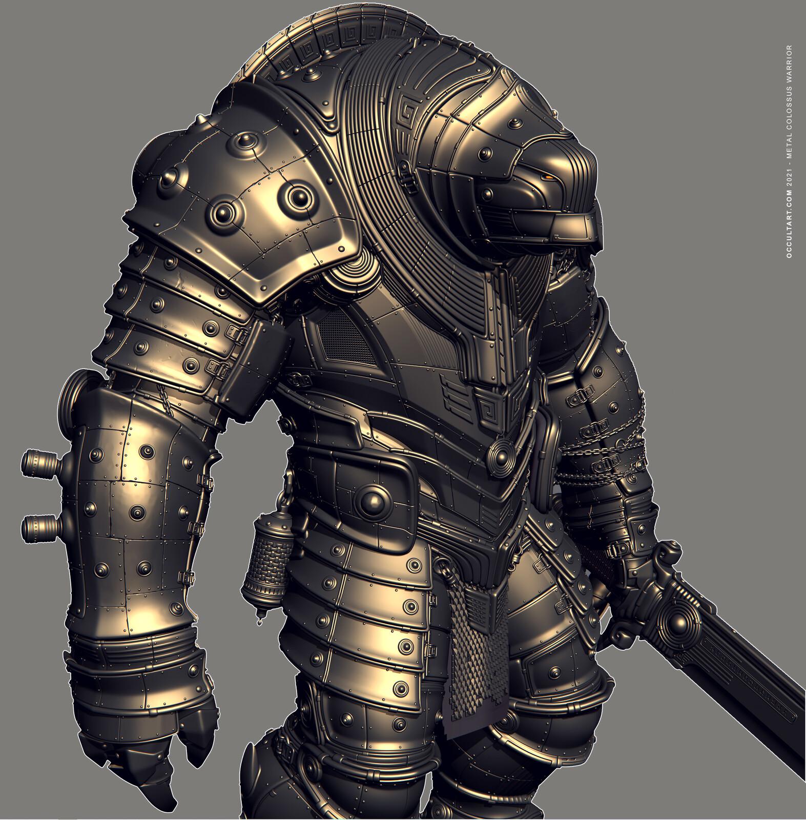 Metal Colossus Warrior (3DsMax Viewport)