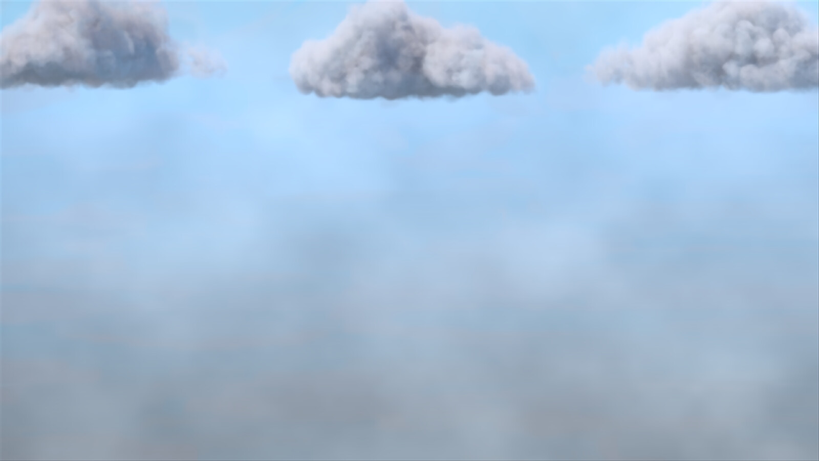 The volumetric clouds are still a bit of a challenge. Wet-on-wet is the most common way of painting clouds, and simulating this effect can be tricky for a 3D render. I am still working on a new method for clouds.
