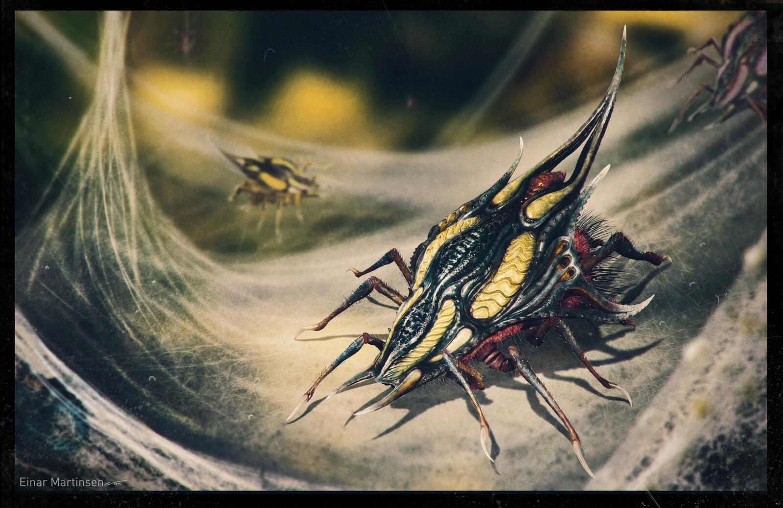 alien spider development