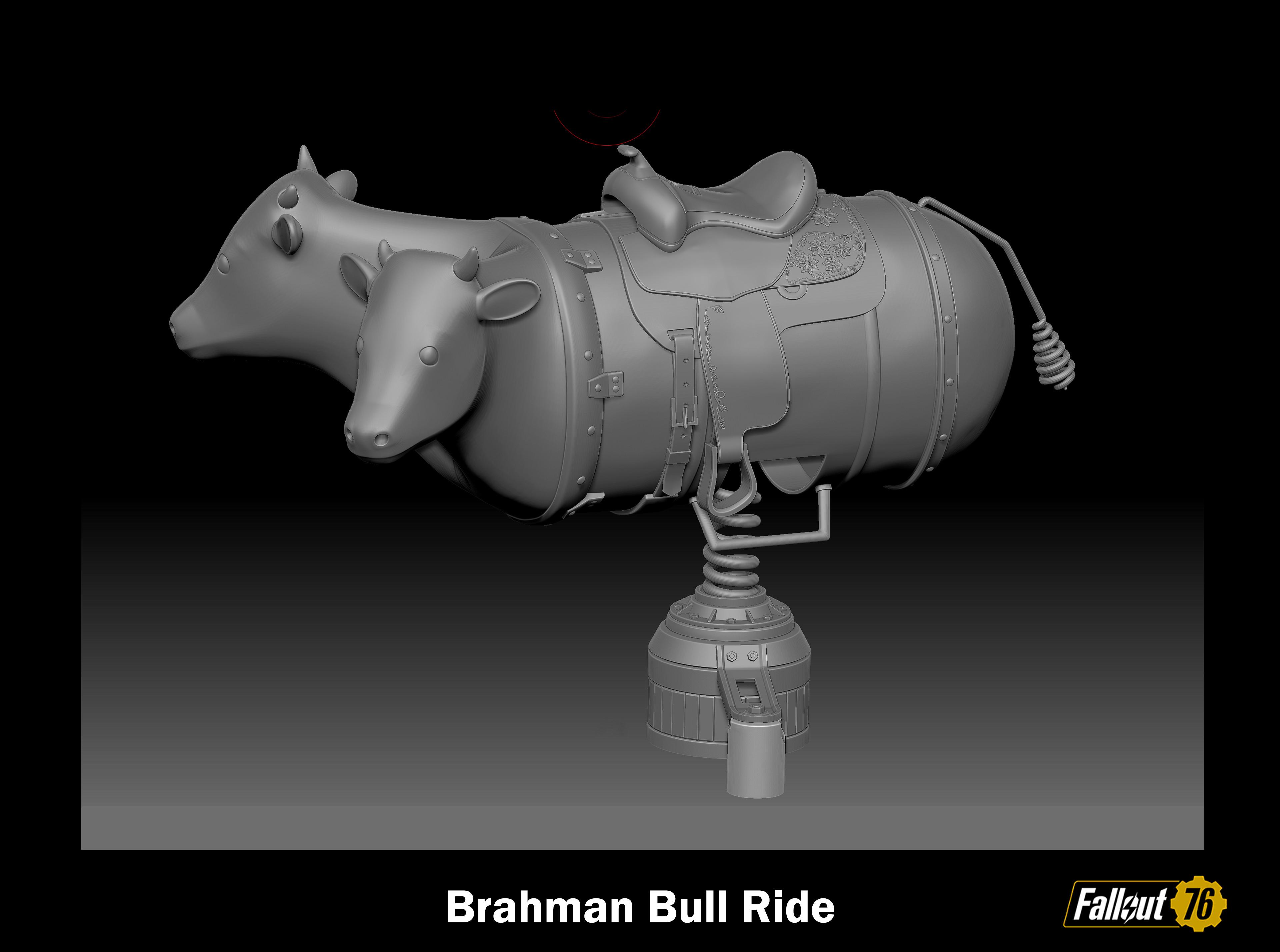 Brahman Bull high resolution ZBrush asset.