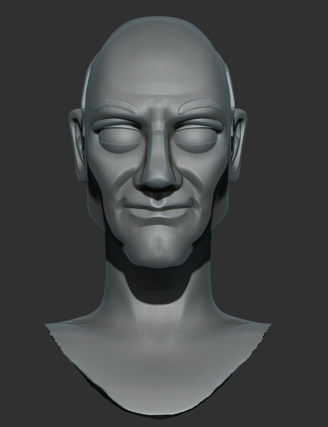 Original version of picard I sculpted back in 2015, since been majorly reworked.