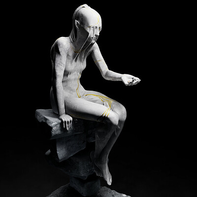 Clement mona statue wip5