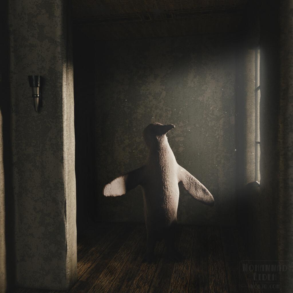 The Forgotten Penguin. A study in scene mood and volumetric lighting.