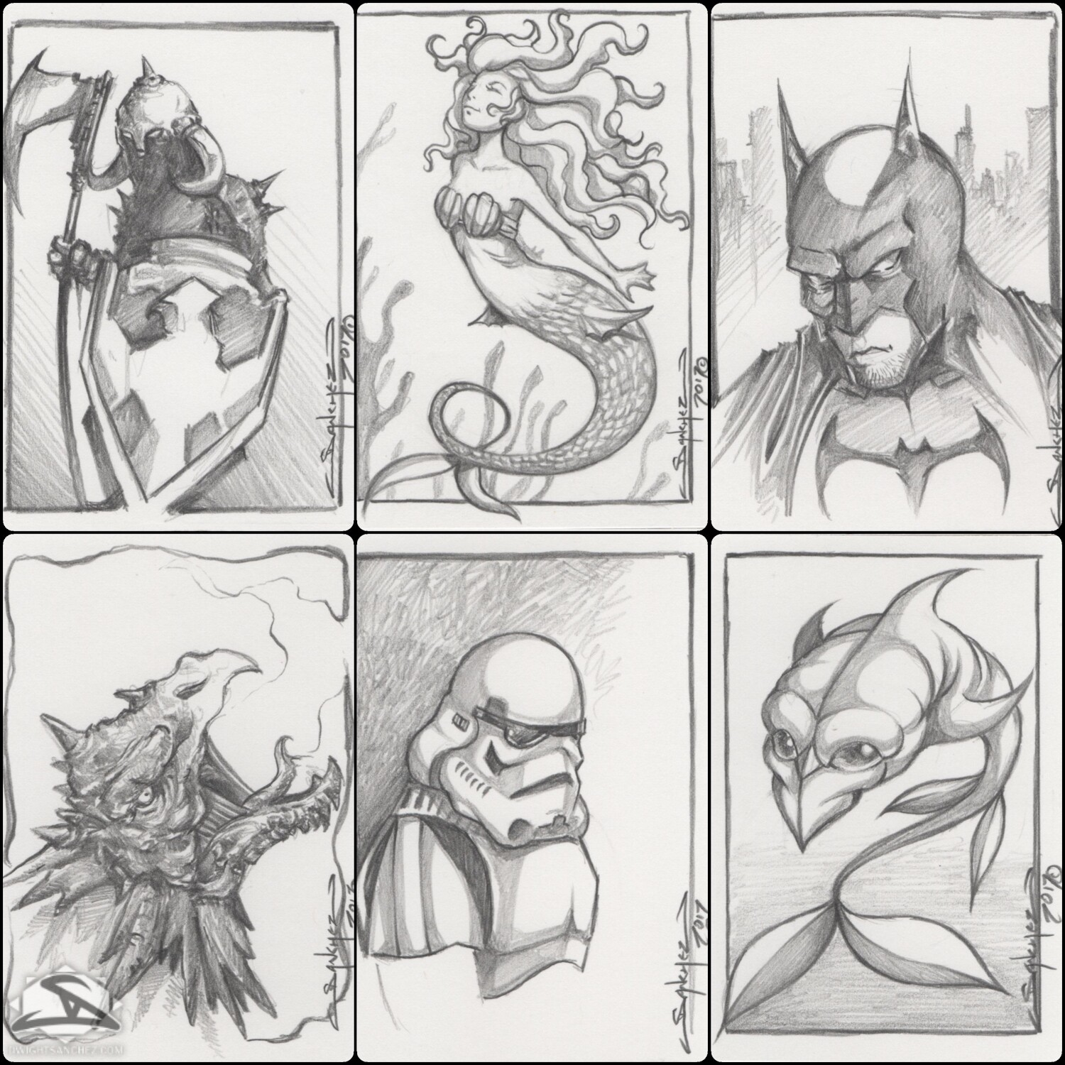 Sketch Cards - Gifts