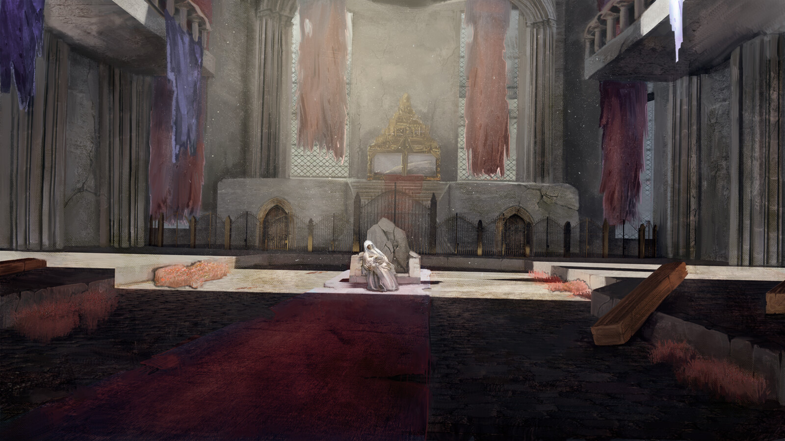 """Carim Temple inside view + hypothetical boss character """"The Blind Maiden"""""""