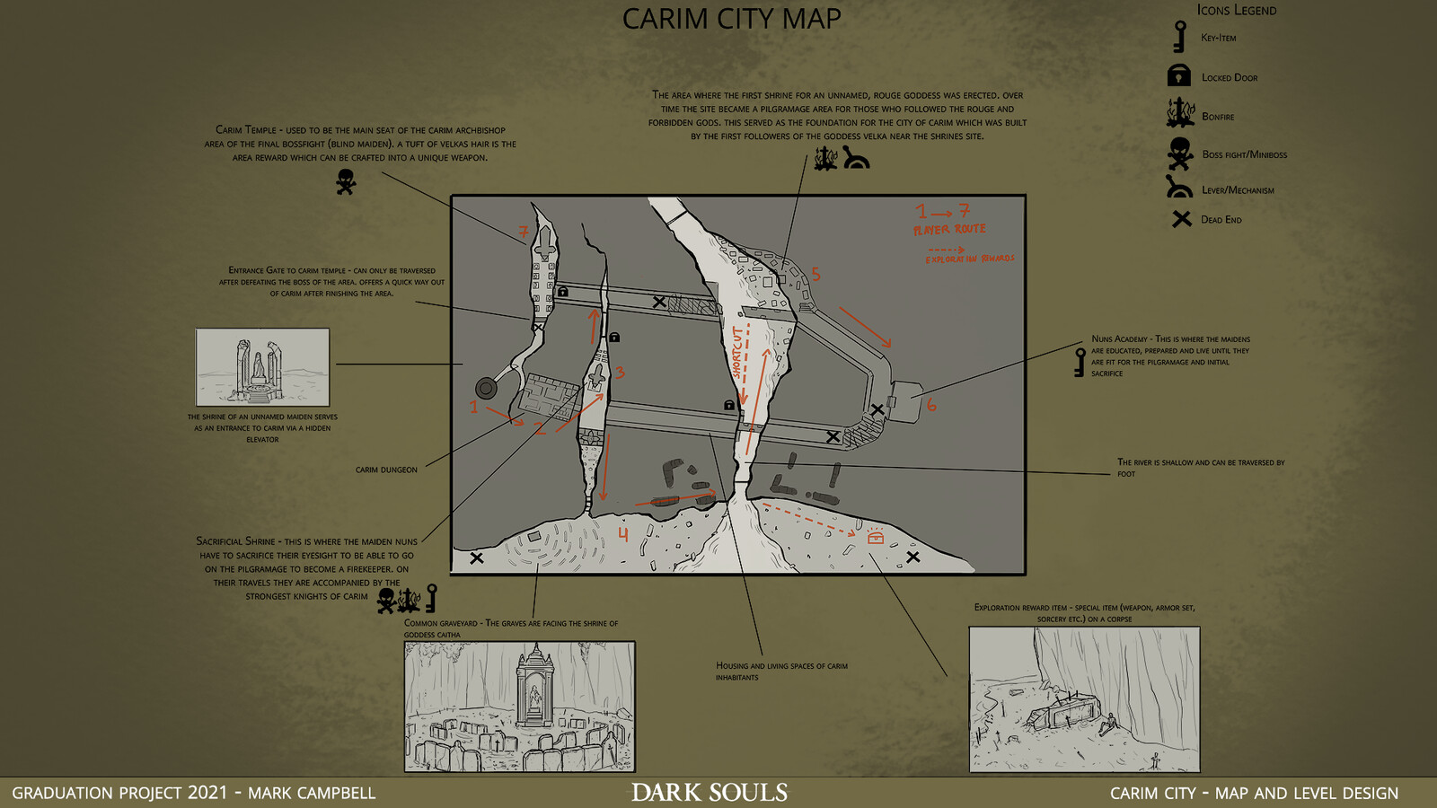 Carim City Map overview