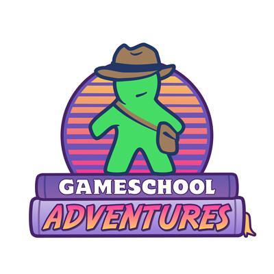 Jon merchant gameschool logo full white border