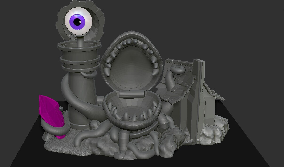 Original Chompchomp playset design, this was seen as too scary