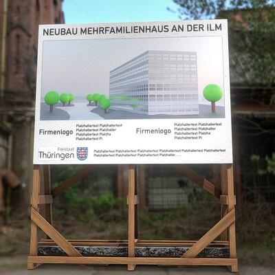 Dennis haupt 3dhaupt wooden billboard for construction sites 2 by 3dhaupt made in blender 3d