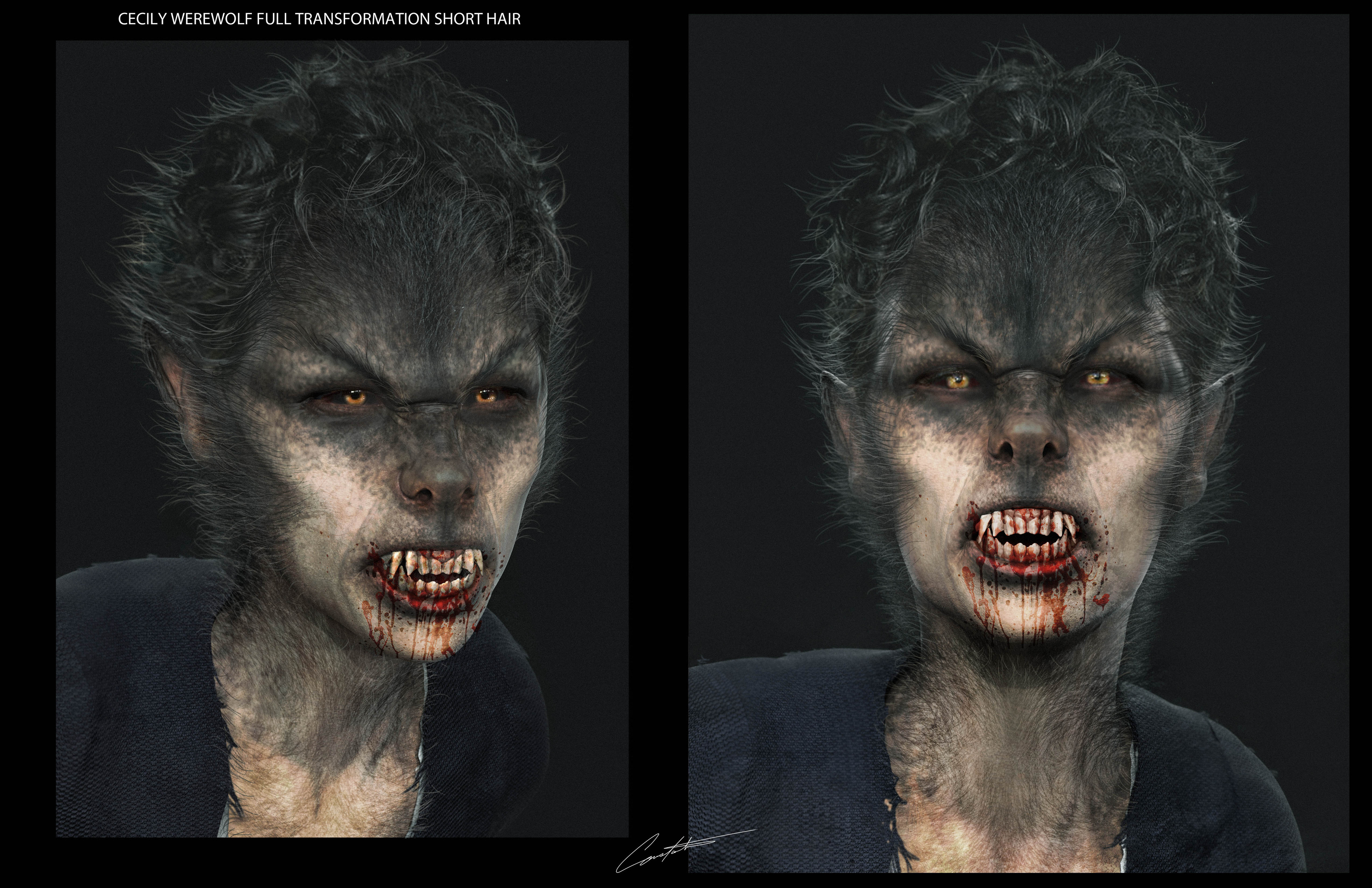 """Werewolves within """"Cecily makup design short hair"""""""