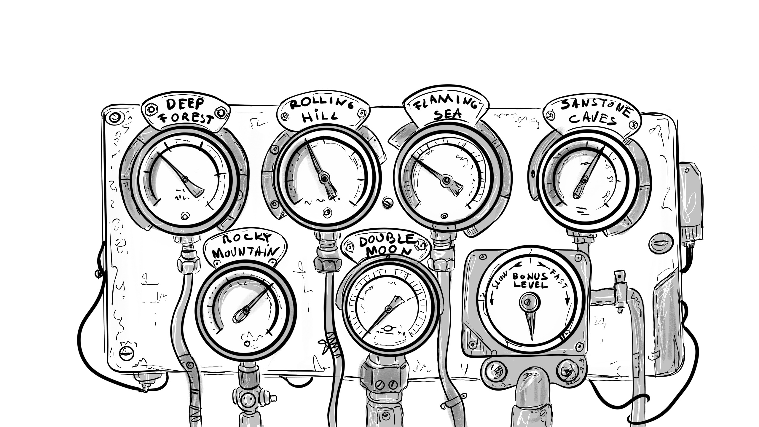 World Meters concept sketches