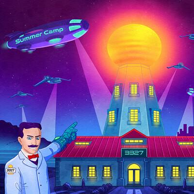 Nikola Tesla Illustration