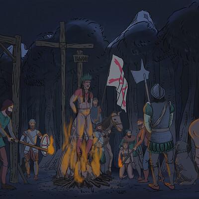 Luis indigenous burned