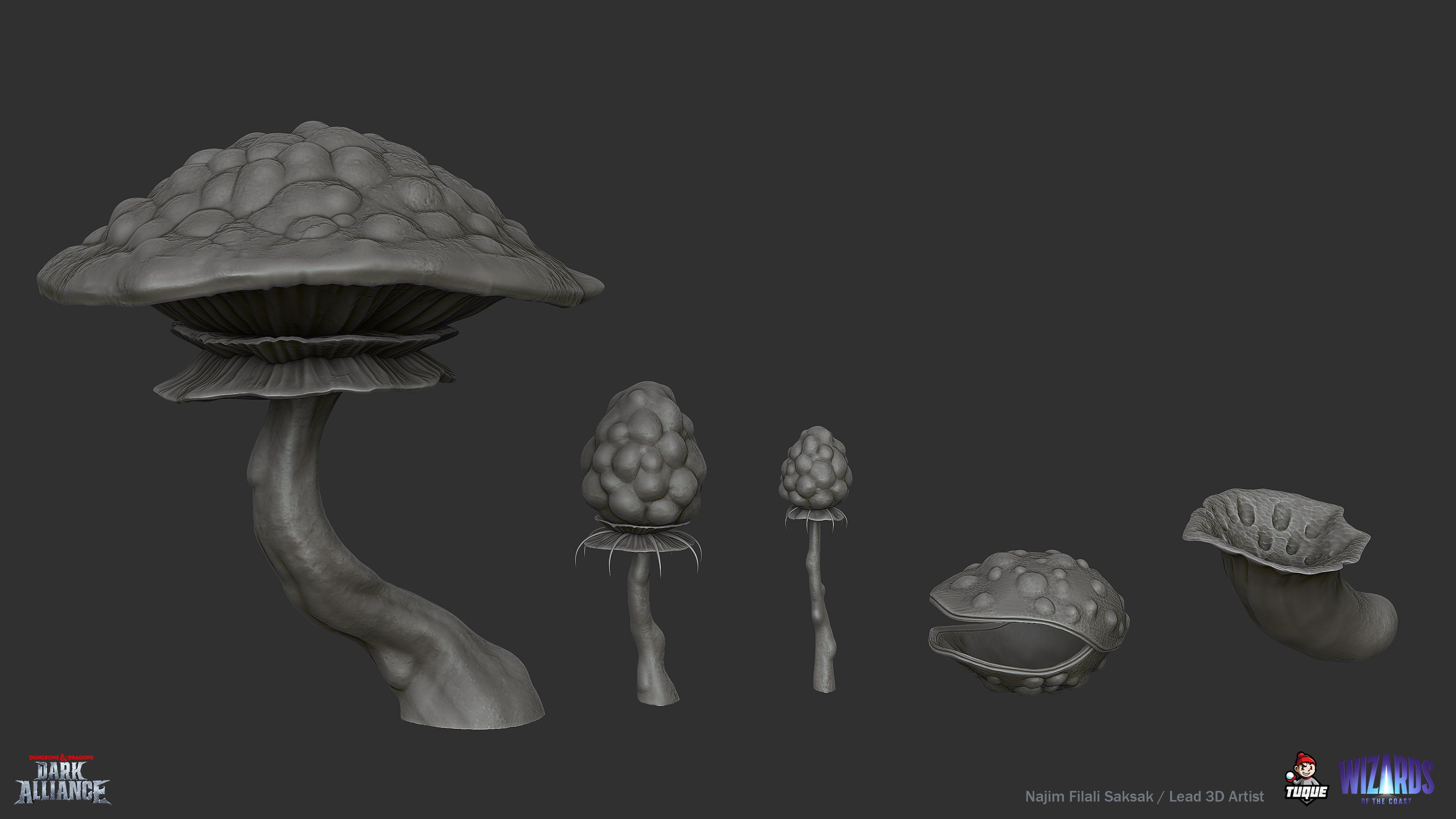 Mushroom Set Sculpting