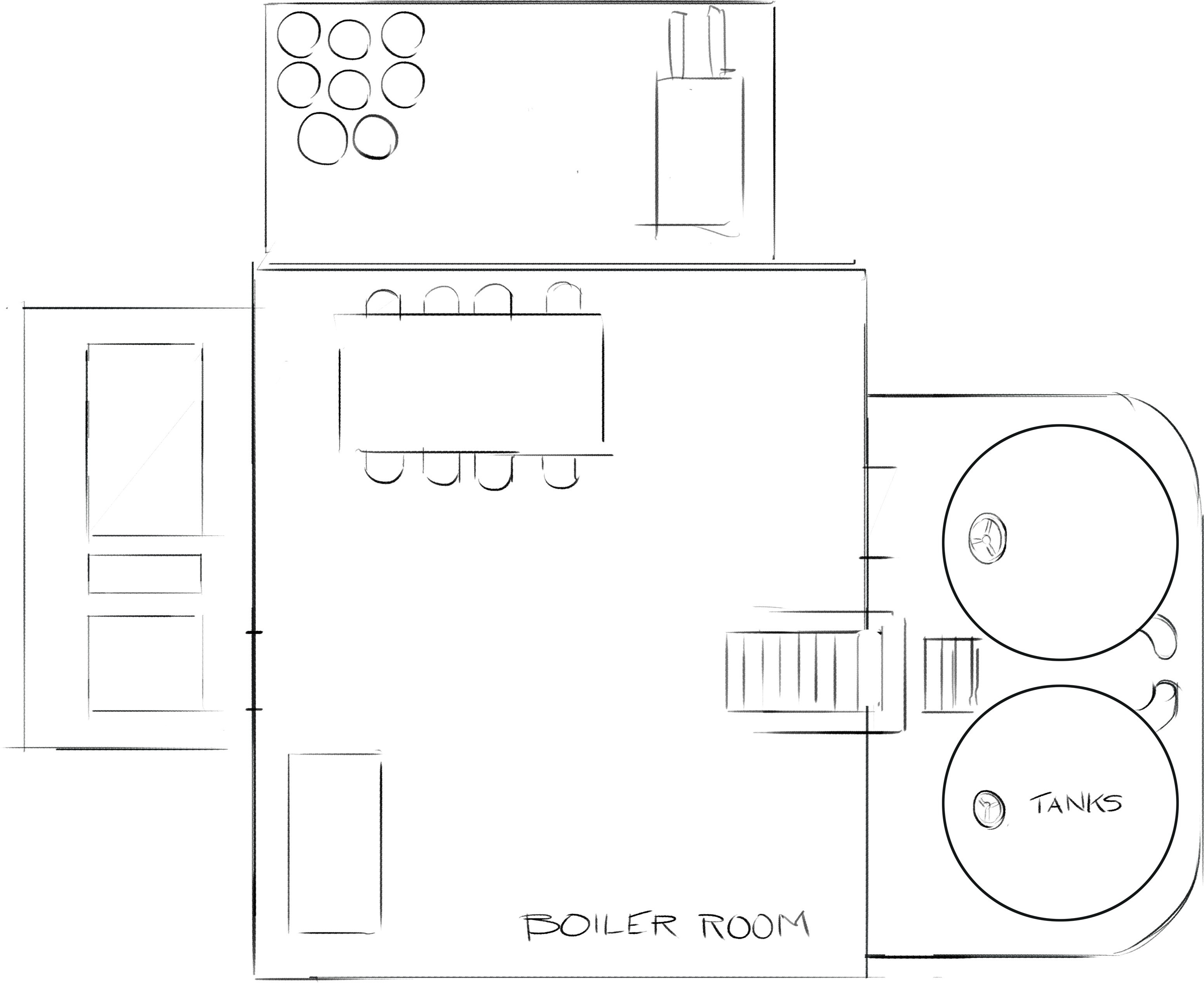 Lower level plan view