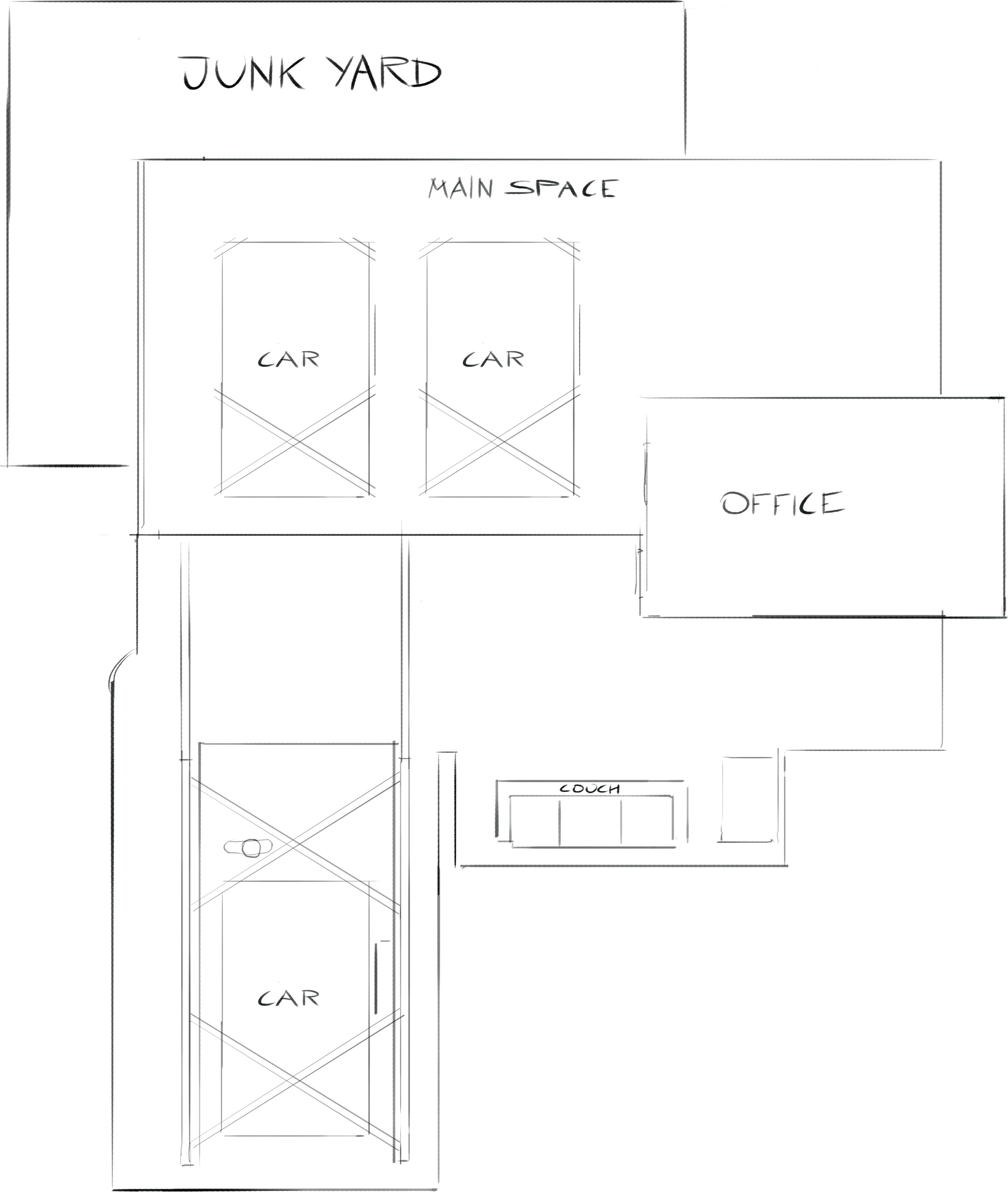 Middle level plan view
