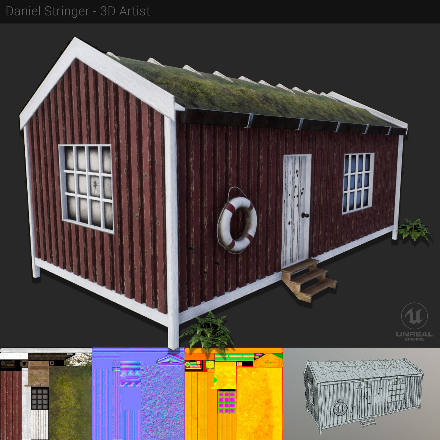 Finished hut in UE