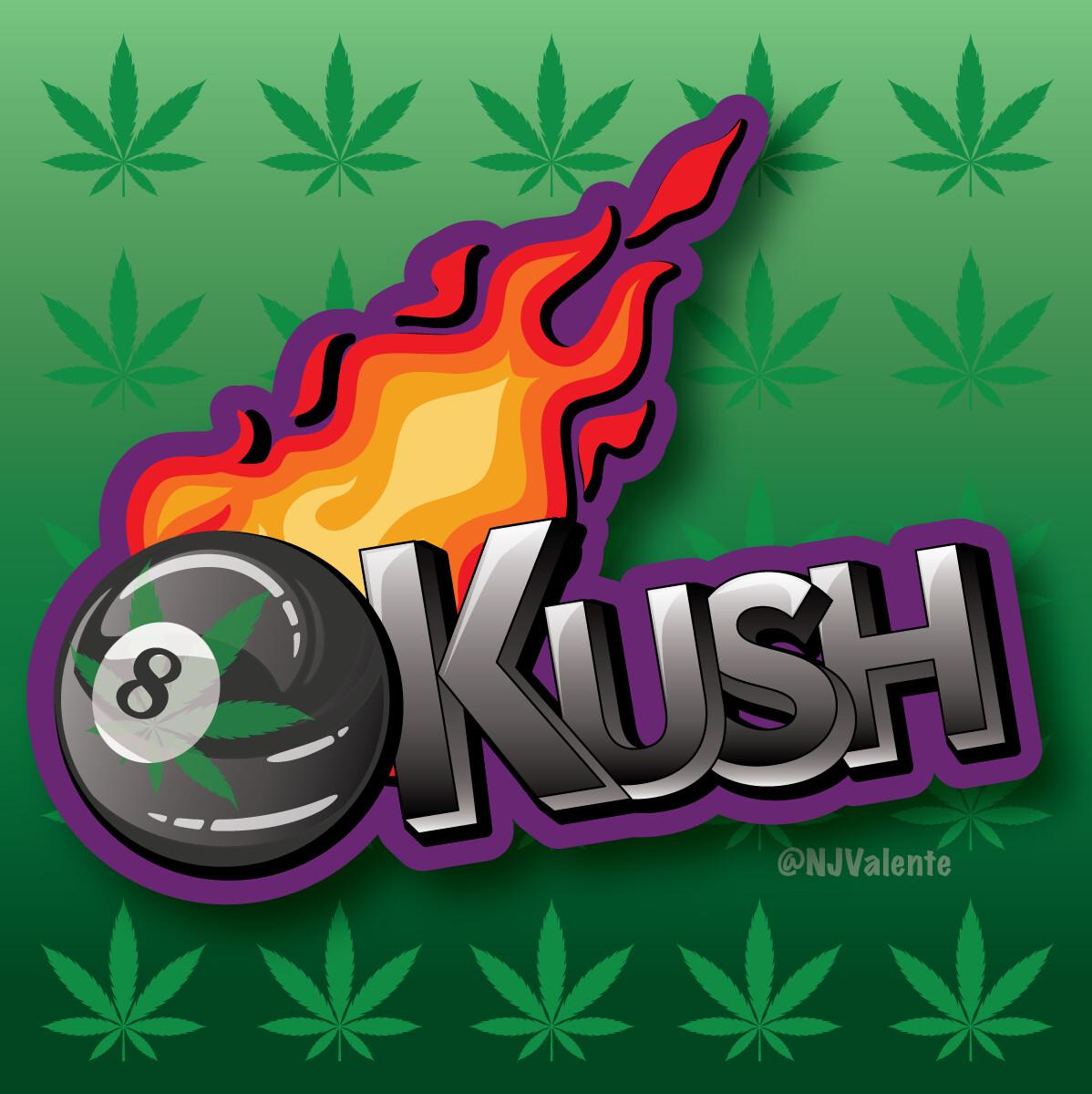 8-Ball Kush Cannabis Logo Design